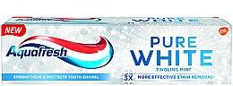 Düfte, Parfümerie und Kosmetik Aufhellende Zahnpasta Pure White Tingling Mint - Aquafresh Pure White Tingling Mint