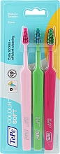 Düfte, Parfümerie und Kosmetik Zahnbürste weich Colour rosa, grün, himbeerrot - TePe Colour Soft