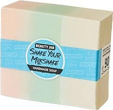 Düfte, Parfümerie und Kosmetik Glycerinseife mit Sahne und Erdbeerduft - Beauty Jar Shake Your Milkshake Handmade Soap