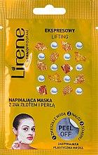 Düfte, Parfümerie und Kosmetik Peel-Off Maske für das Gesicht mit Goldpartikeln und Perlen - Lirene Peel-Off Express Lifting