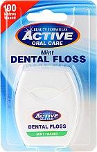 Düfte, Parfümerie und Kosmetik Gewachste Zahnseide mit Minzgeschmack 100 m - Beauty Formulas Active Oral Care Dental Floss Mint Waxed 100m