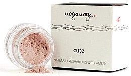Düfte, Parfümerie und Kosmetik Natürliches Lidschatten-Puder mit baltischem Bernstein - Uoga Uoga Natural Eye Shadow With Amber