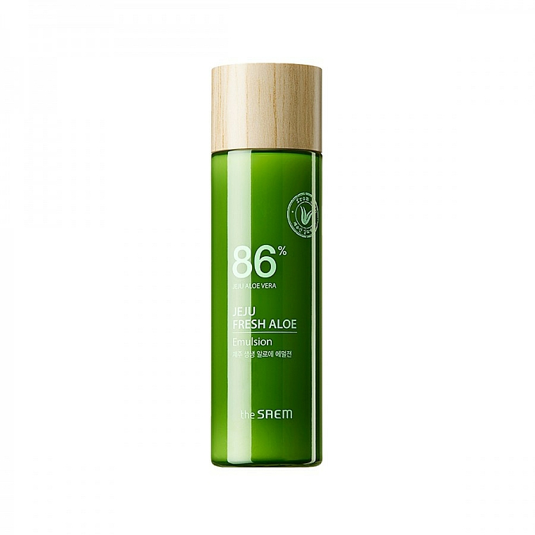 Feuchtigkeitsspendende Gesichtsemulsion mit 86% Aloe Vera-Saft - The Saem Jeju Fresh Aloe Emulsion