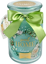 Düfte, Parfümerie und Kosmetik Duftkerze im Glas Hibiskus 10x16 cm 700 g - Artman Sweet Home Hibiscus