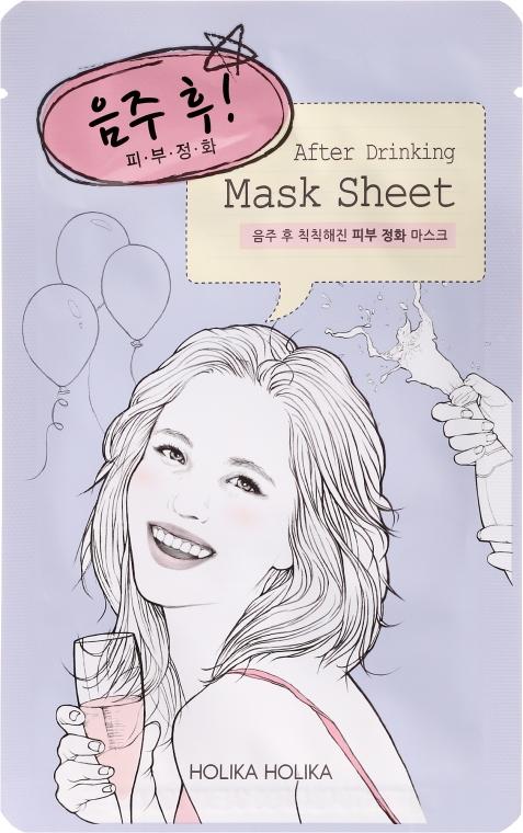 Entgiftende und beruhigende Tuchmaske nach der Party - Holika Holika After Mask Sheet After Drinking — Bild N1