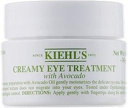 Düfte, Parfümerie und Kosmetik Feuchtigkeitsspendende Augencreme mit Avocadoöl - Kiehl`s Creamy Eye Treatment with Avocado
