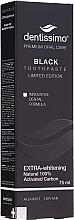 Düfte, Parfümerie und Kosmetik Extra aufhellende Zahnpasta - Dentissimo Extra Whitening Black