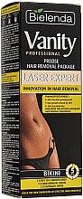 Düfte, Parfümerie und Kosmetik Enthaarungscreme für Bikinizone - Bielenda Vanity Laser Expert (Enthaarungscreme 100ml + Enzymtücher 2 St. + Plastikspatel)