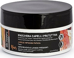 Düfte, Parfümerie und Kosmetik Schützende Haarmaske mit Papaya für empfindliche Kopfhaut und häufigen Gebrauch - Bio Happy Jungle Infusion Protective Hair Mask