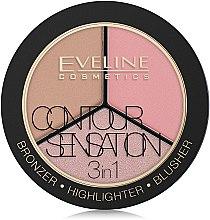 Highlighter Gesichtspalette - Eveline Cosmetics Contour Sensation — Bild N1