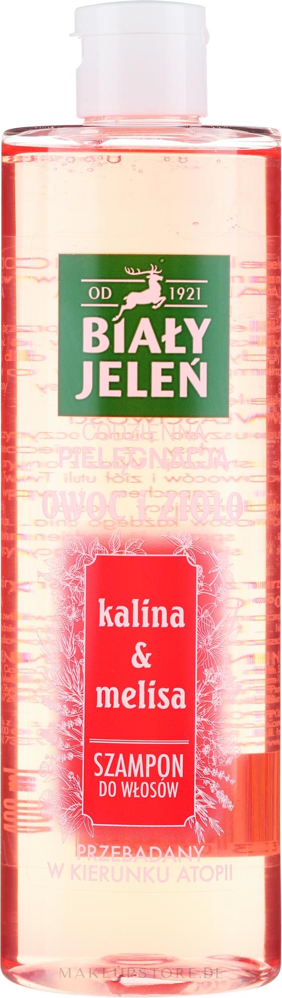 """Shampoo für alle Haartypen """"Kalina & Melisse"""" - Bialy Jelen Fruit and Herb Shampoo Kalina & Melissa — Bild 400 ml"""