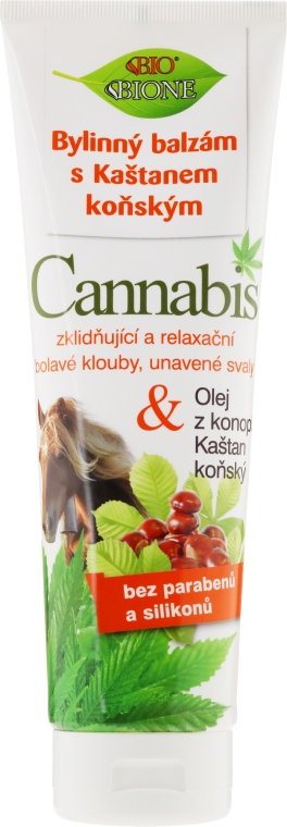Fußbalsam mit Kastanien- und Hanföl - Bione Cosmetics Cannabis Herbal Ointment With Horse Chestnut