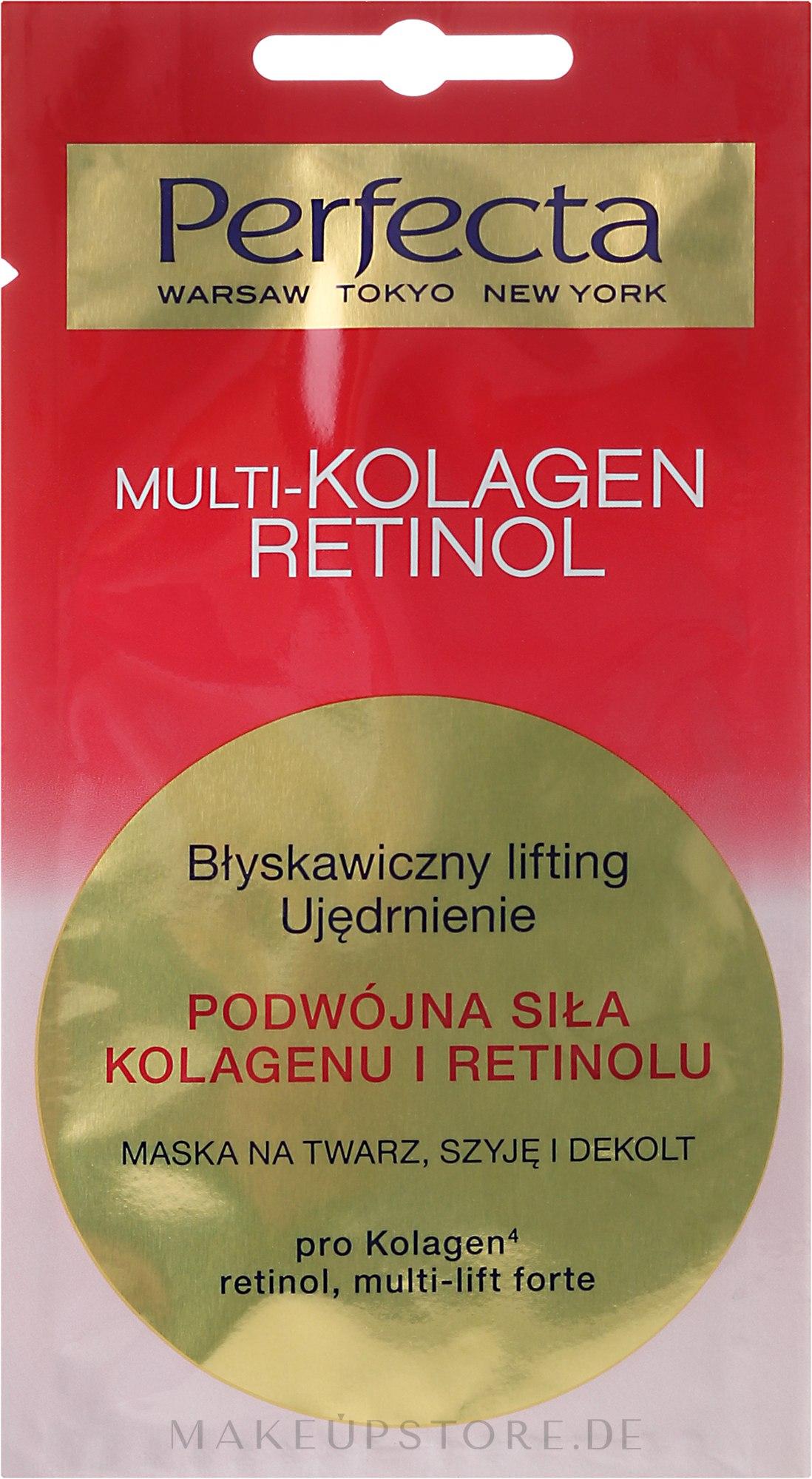 Gesichts-, Hals- und Dekolletémaske mit Liftingeffekt - Perfecta Multi-Kolagen Retinol — Bild 8 ml