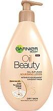 Düfte, Parfümerie und Kosmetik Nährende Öl-Milch für trockene Haut - Garnier Oil Beauty Body Lotion Dry Skin
