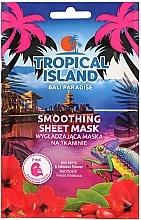 Düfte, Parfümerie und Kosmetik Glättende Tuchmaske mit Goji-Beere und Hibiskus - Marion Tropical Island Bali Paradise Smoothing Sheet Mask