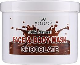 Düfte, Parfümerie und Kosmetik Beruhigende pflegende und feuchtigkeitsspendende Körper- und Gesichtsmaske mit Schokoladenduft - Hristina Cosmetics Face & Body Chocolate Mask