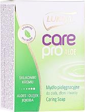 Düfte, Parfümerie und Kosmetik Seife mit Aloe und Jojoba - Luksja Care Pro Aloe & Jojoba Cream Soap