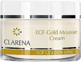 Düfte, Parfümerie und Kosmetik Creme-Mousse mit Peptiden und kolloidalem Gold für Gesicht, Hals und Dekolleté - Clarena EGF Gold Mousse Cream