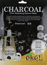 Düfte, Parfümerie und Kosmetik Tuchmaske für das Gesicht mit Aktivkohle - Ekel Charcoal Ultra Hydrating Essence Mask