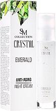 Düfte, Parfümerie und Kosmetik Anti-Aging Nachtcreme Smaragd - Hristina Cosmetics SM Crystal Emerald Anti-Aging Night Cream
