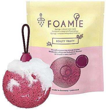 Duschschwamm mit integriertem fruchtig duftendem Cremeschaumherz - Foamie Beauty Fruity — Bild N1