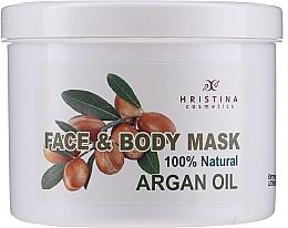 Düfte, Parfümerie und Kosmetik Beruhigende, nährende und feuchtigkeitsspendende Körper- und Gesichtsmaske mit Arganöl - Hristina Cosmetics Face & Body Mask Argan Oil