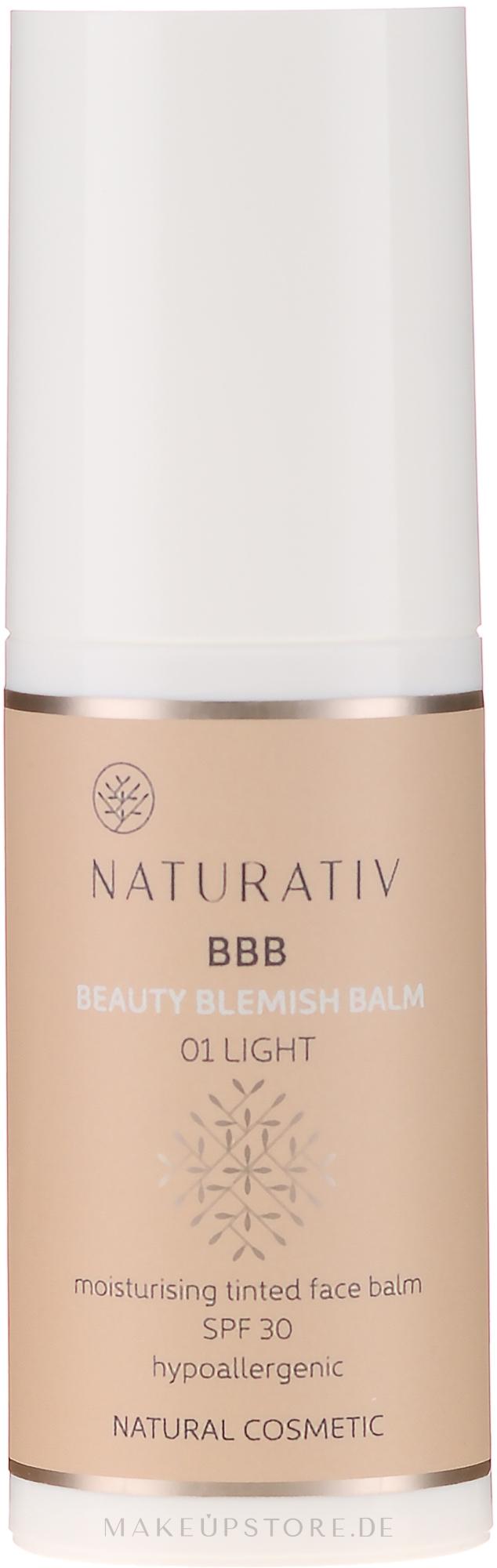 Feuchtigkeitsspendender BB Balsam LSF 30 - Naturativ Beauty Blemish Balm — Bild 01 - Light
