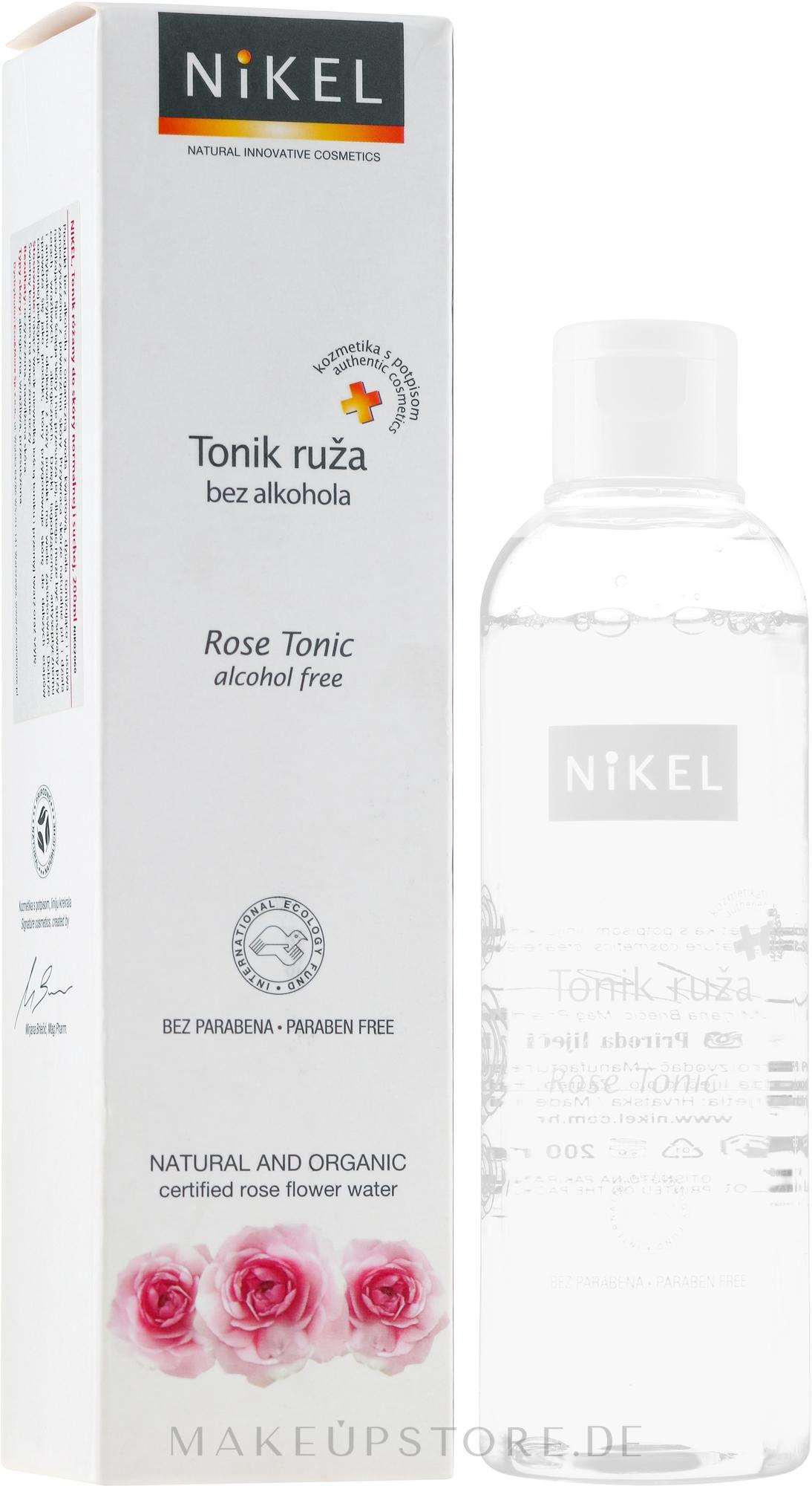 Gesichtswasser mit Bio Rose für normale und trockene Haut - Nikel Rose Tonic — Bild 200 ml