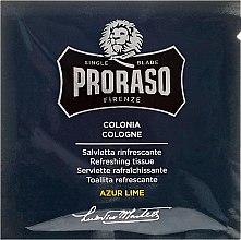 Erfrischende Feuchttücher für Bart und Gesicht mit Azur Limettenduft - Cologne Refreshing Tissues Azur Lime — Bild N2