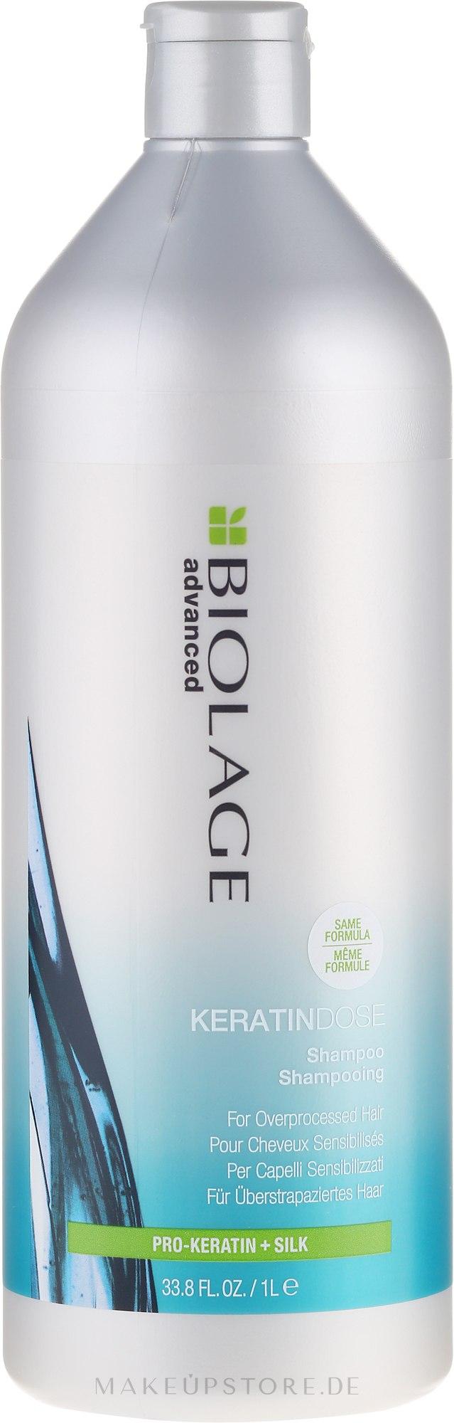 Aufbauendes Shampoo für überstrapaziertes Haar - Biolage Keratindose Pro Keratin Shampoo — Bild 1000 ml