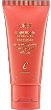 """Düfte, Parfümerie und Kosmetik Haarspülung für blondes Haar """"Intensive Feuchtigkeit"""" (Mini) - Oribe Bright Blonde Conditioner For Beautiful Color"""