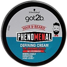 Düfte, Parfümerie und Kosmetik Modellierende und definierende Haarcreme - Schwarzkopf Got2b Phenomenal Defining Cream