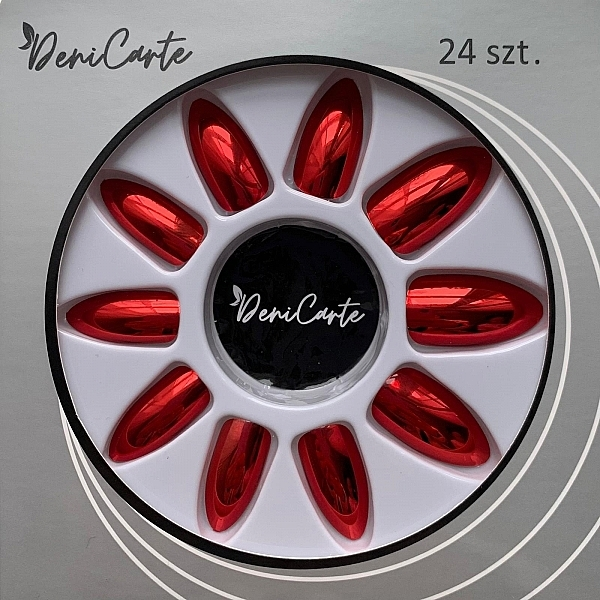 Künstliche Nägel mit Spiegeleffekt 6727 rot - Deni Carte — Bild N1