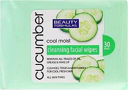 Düfte, Parfümerie und Kosmetik Make-up-Entfernungstücher mit Gurkenextrakt 20 St. - Beauty Formulas Cucumber Cleansing Facial Wipes