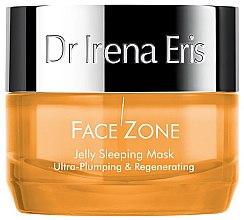 Düfte, Parfümerie und Kosmetik Regenerierende und straffende Gelmaske für das Gesicht - Dr Irena Eris Face Zone Jelly Sleeping Mask Ultra-Plumping & Regenerating
