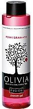 Düfte, Parfümerie und Kosmetik Feuchtigkeitsspendendes Duschgel mit Granatapfelextrakt - Olivia Beauty & The Olive Fusion Shower Gel Pomegranate