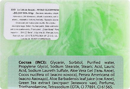 Glycerinseife mit Avocadoöl und Grüner Tee Extrakt - Le Cafe de Beaute Glycerin Soap — Bild N2
