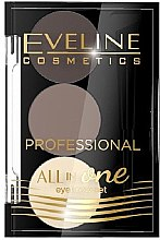 Augenbrauen-Make-up-Palette - Eveline Cosmetics All In One Eyebrow Styling Set — Bild N1