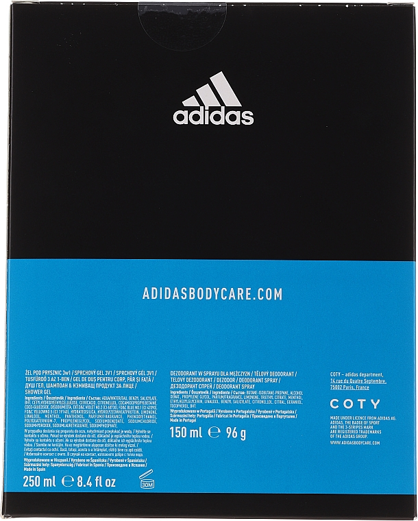 Körperpflegeset - Adidas After Sport (Deospray 150ml + Duschgel 250ml) — Bild N4