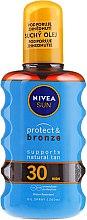 Düfte, Parfümerie und Kosmetik Sonnenschutzöl - Nivea Sun Care Protect & Bronze Oil SPF 30