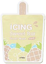 Düfte, Parfümerie und Kosmetik Tuchmaske für das Gesicht mit Ananas - A'pieu Icing Sweet Bar Sheet Mask