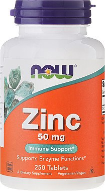 Zink 50 mg 250 Tabletten - Now Foods Zink — Bild N1