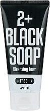 Düfte, Parfümerie und Kosmetik Feuchtigkeitsspendender und beruhigender Gesichtsreinigungsschaum mit marokkanischem Ton - A'pieu 2+Black Soap Cleansing Foam Fresh