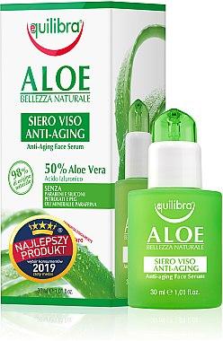 Anti-Aging Gesichtsserum mit Hyaluronsäure und Aloe Vera - Equilibra Aloe Line Serum — Bild N1