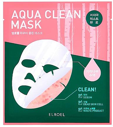 Beruhigende und reinigende Bio-Cellulosemaske für das Gesicht mit Birkensaft - Elroel Aqua Clean Mask — Bild N1