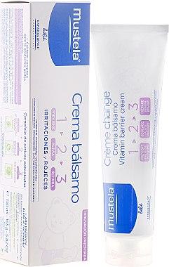 Wundschutzcreme 1-2-3 für Babys - Mustela Bebe 1 2 3 Vitamin Barrier Cream — Bild N1