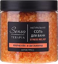 Düfte, Parfümerie und Kosmetik Natürliches Badesalz mit Passionsfrucht und Vitaminen - Senso Terapia Stress Relief Salt