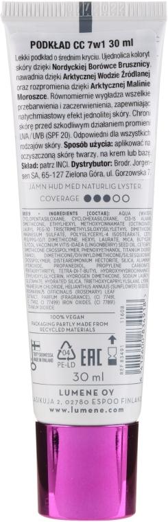 CC Creme mit arktischem Moltebeerenextrakt und Preiselbeersamenöl LSF 20 - Lumene CC Color Correcting Cream — Bild N4