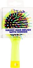 Haarbürste mit Spiegel grün - Twish Handy Hair Brush with Mirror Spring Bud — Bild N2