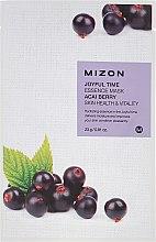 Düfte, Parfümerie und Kosmetik Tuchmaske mit Acai-Beere - Mizon Joyful Time Essence Mask Acai Berry